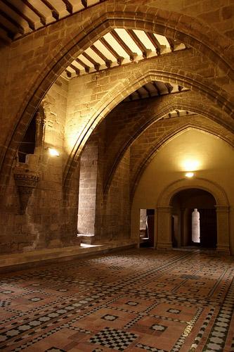 Interior del castillo de Albalate.