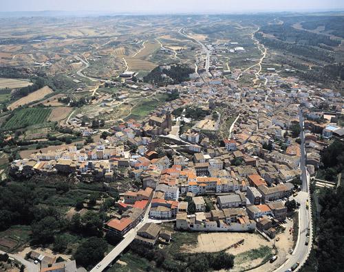 Vista aerea de la localidad.