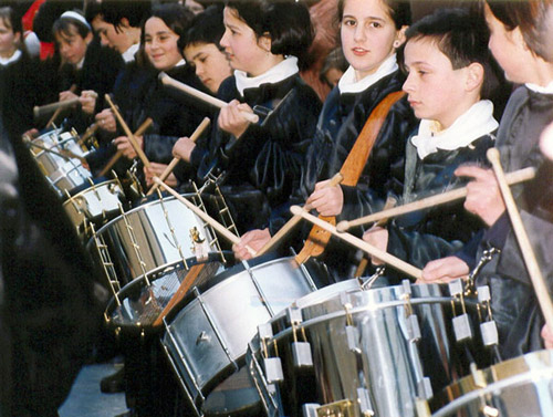 Tambores en Albalate del Arzobispo.