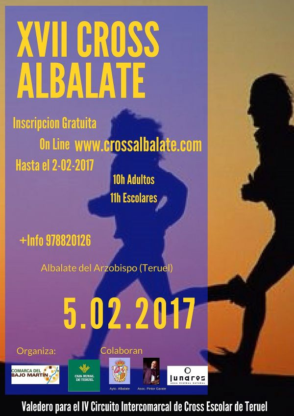 Cartel XVII Cross de Albalate del Arzobispo