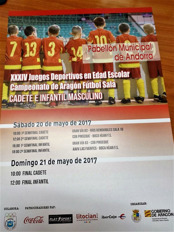 Cartel Campeonato de Aragon de FS