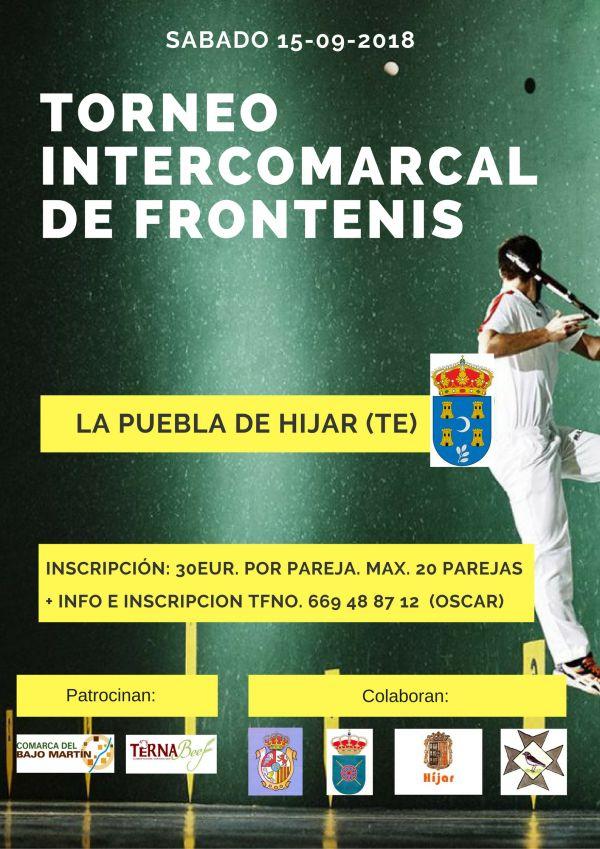 Cartel Torneo Frontenis La Puebla de Hijar 2018