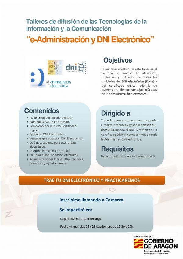 Cartel DNI electrónico en Híjar