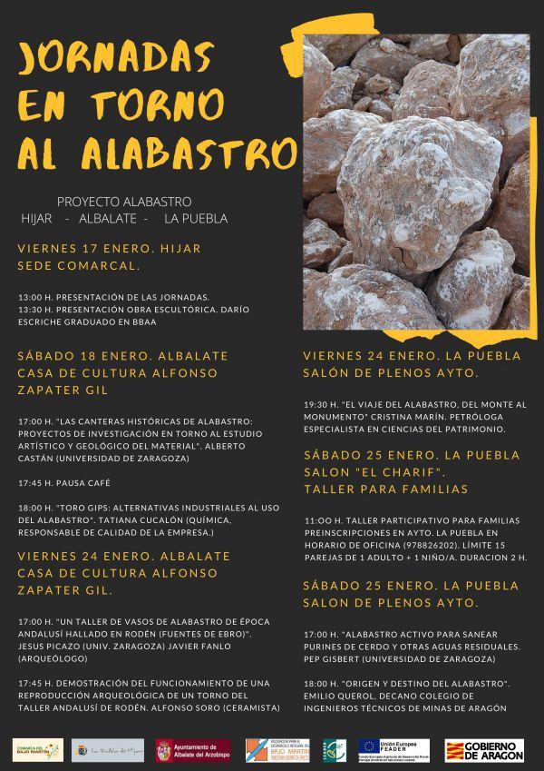 Cartel Jornadas en torno al Alabastro