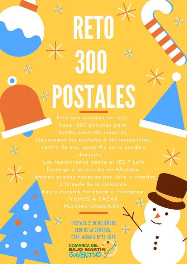 Cartel Reto 300 postales