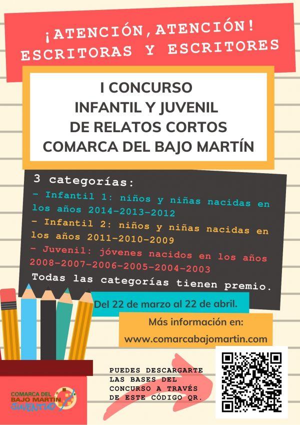 Cartel I Concurso Infantil y Juvenil de Relatos Cortos