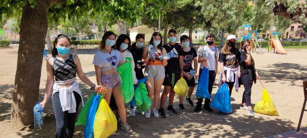 Jóvenes asistentes a la excursión