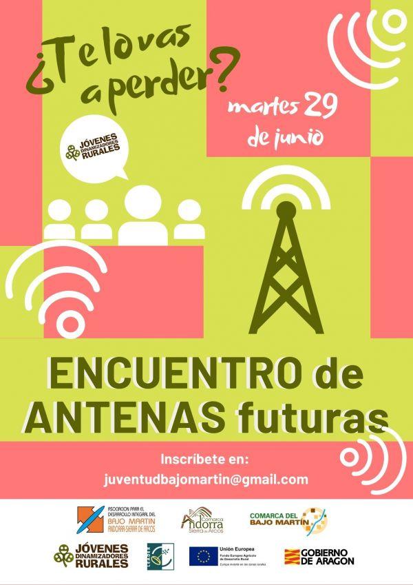 Cartel Encuentro de Antenas Informativas ANDORRA-BAJOMARTÍN