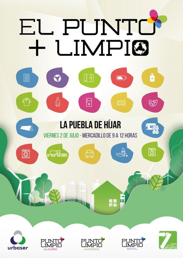 Cartel punto limpio La Puebla