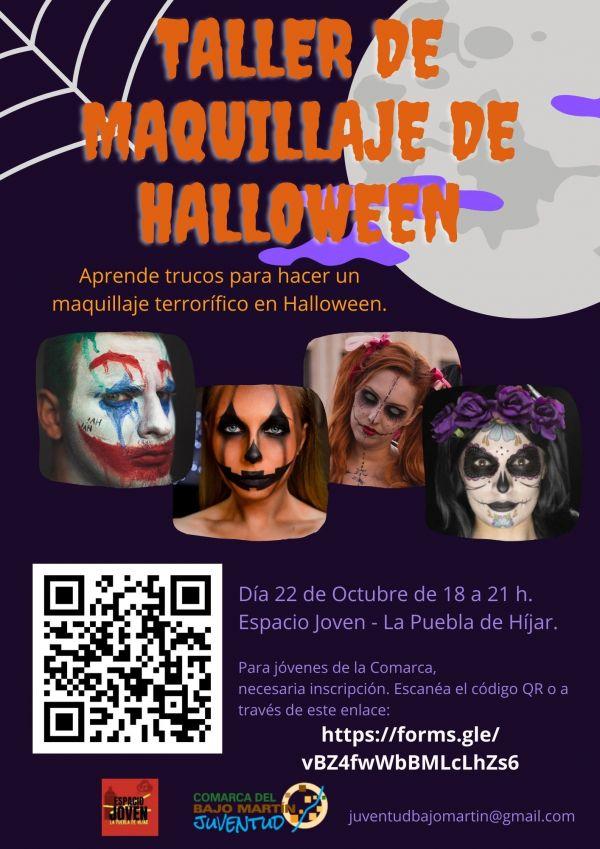 Taller Maquillaje de Halloween-La Puebla de Híjar
