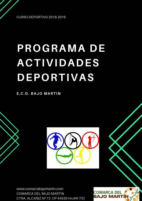 73c4472ee Inscripciones actividades deportivas Curso 2018-19